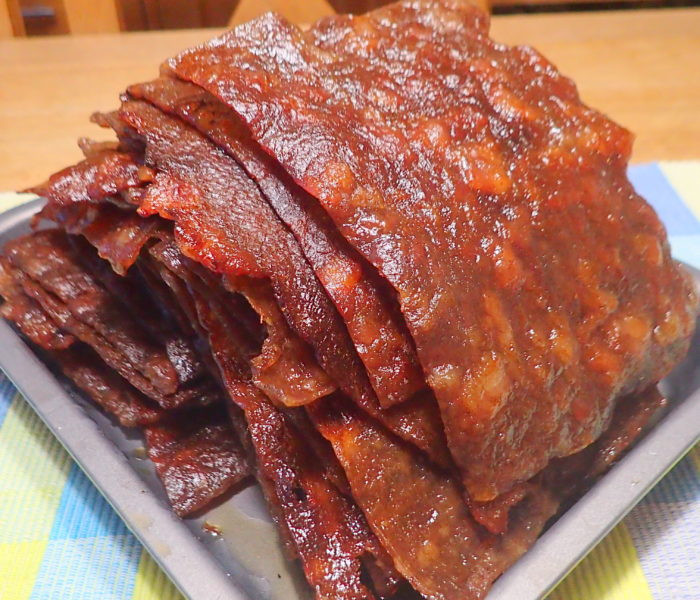 Chinese pork jerky (Yok Kon, Long Yok, Bak Kwa)