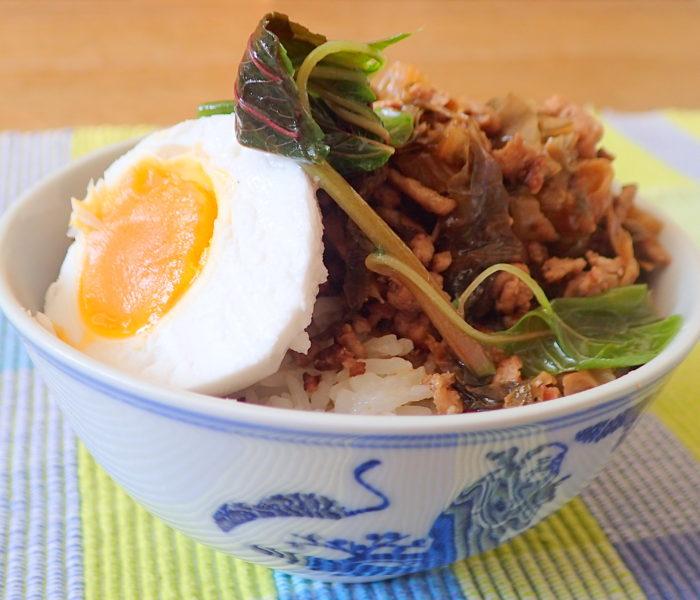 Hakka Mui Choy with mince pork