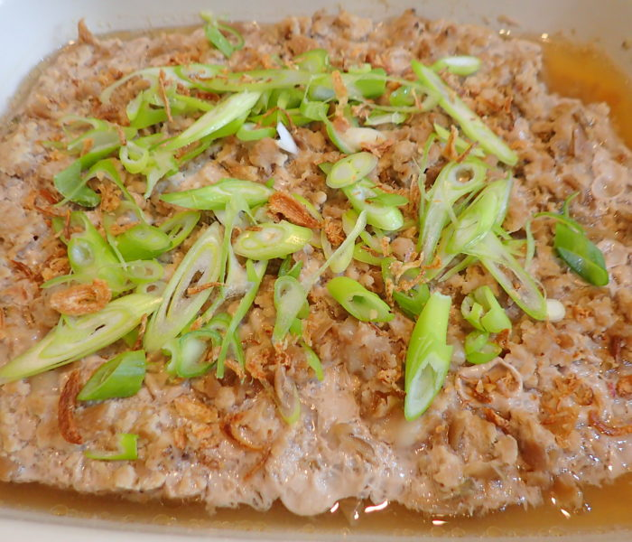 Steamed Minced Pork with Tung Choy (冬菜蒸猪肉)