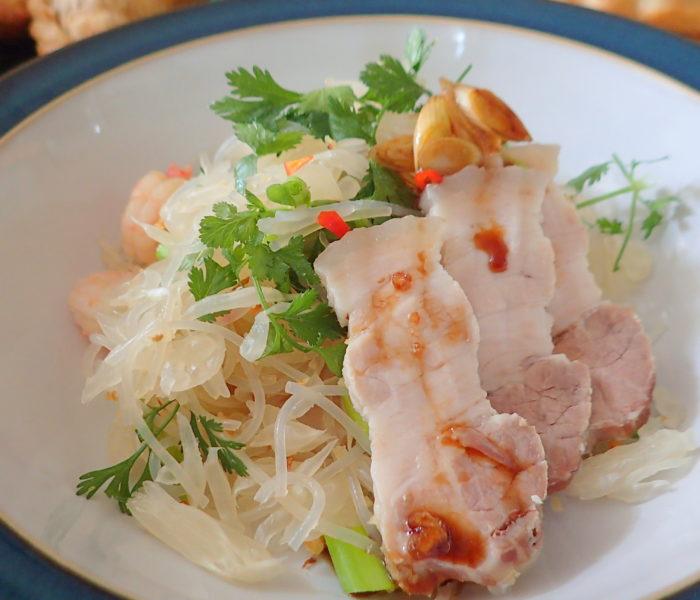 Pomelo, Prawn and Cellophane (bean thread) noodles salad – Special