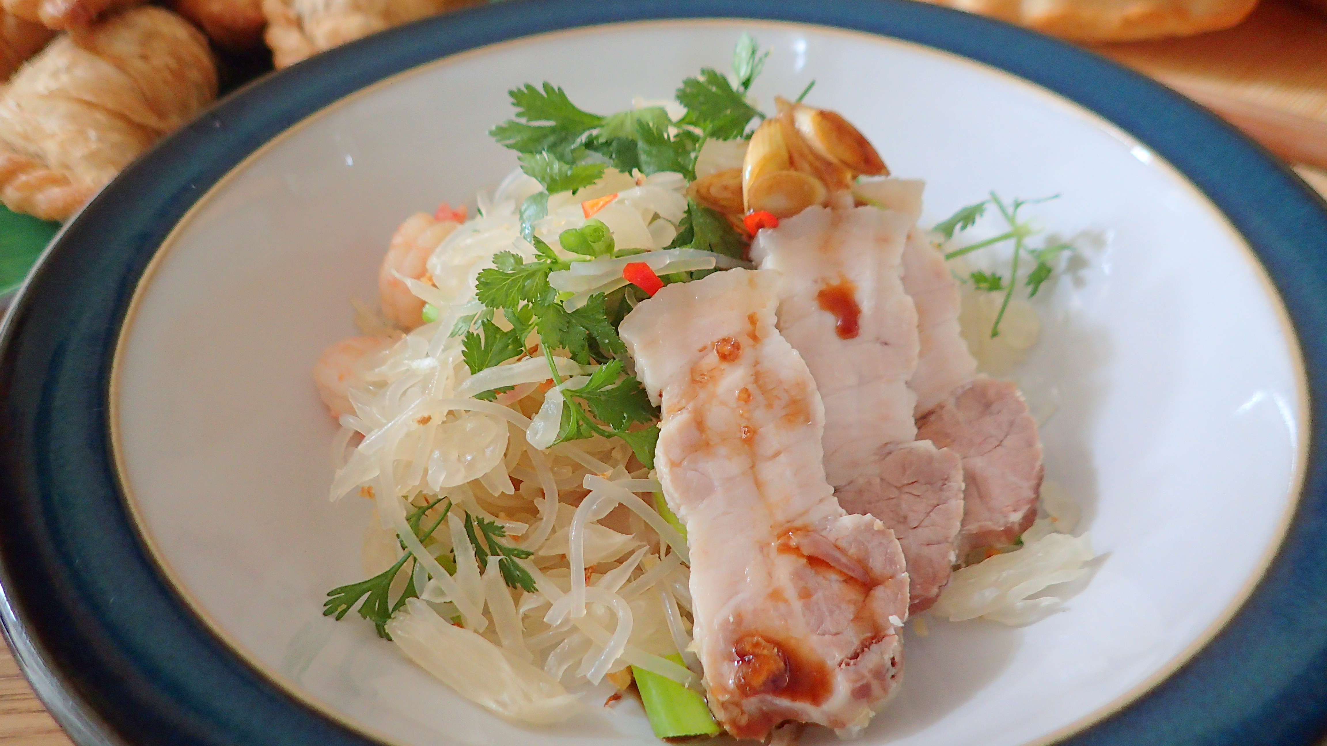 Pomelo, Prawn and Cellophane (bean thread) noodles salad – Special