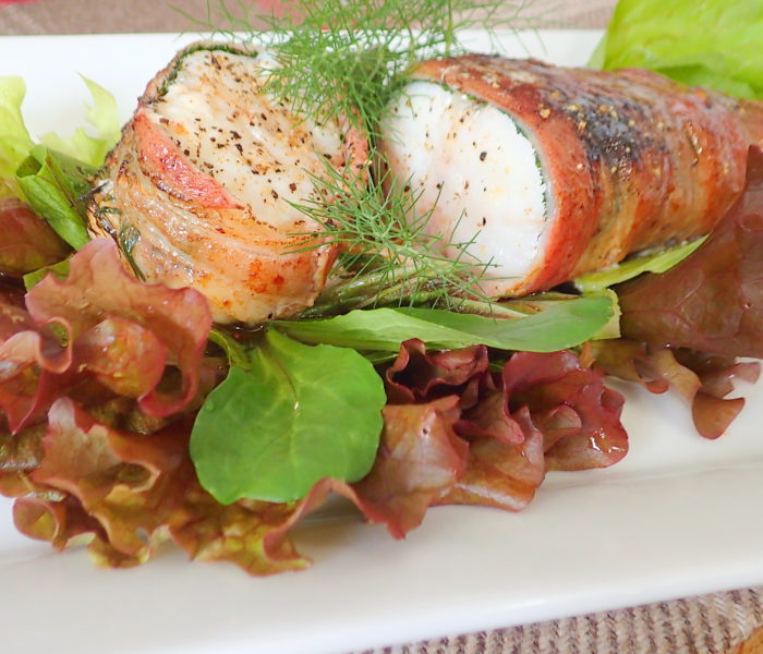 Monkfish in bacon blanket