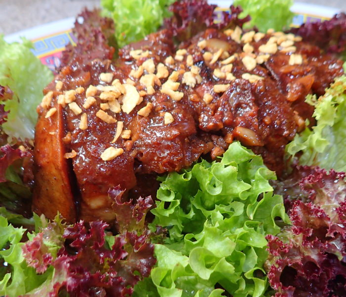 Hakka Kau Yuk芋頭扣肉 with Cantonese Crispy Roast Pork Belly 脆皮烧肉