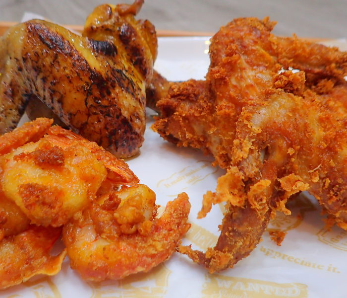 Fried and Roasted chicken wings