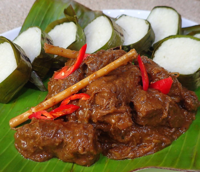 Beef Rendang + cheat lemang